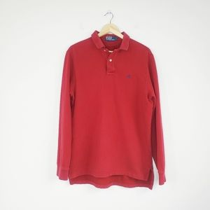 🔴 Polo by Ralph Lauren Red Collared Pullover